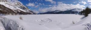 Der Silsersee im Winter - Eistauchen
